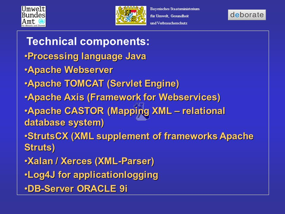 Technical components: