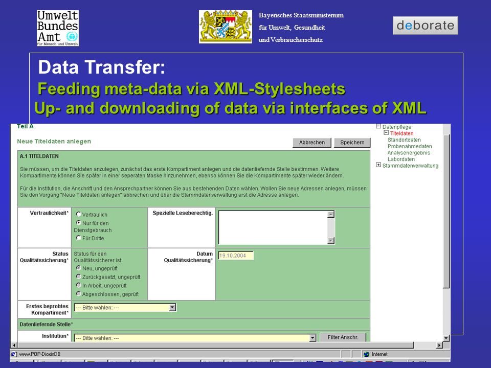 Feeding meta-data via XML-Stylesheets