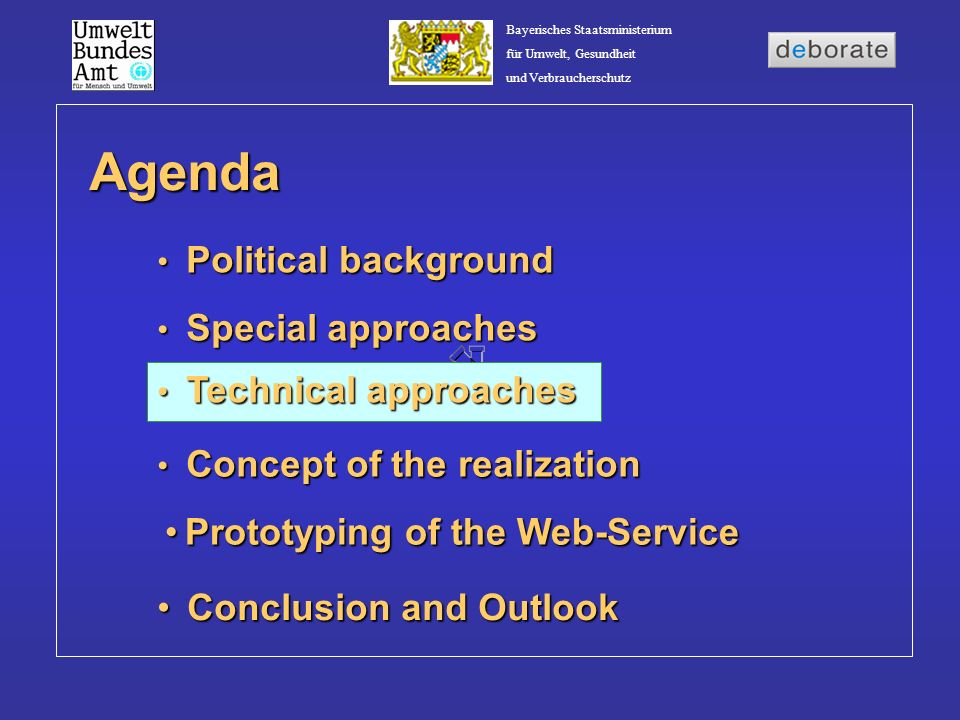 Agenda Prototyping of the Web-Service Conclusion and Outlook