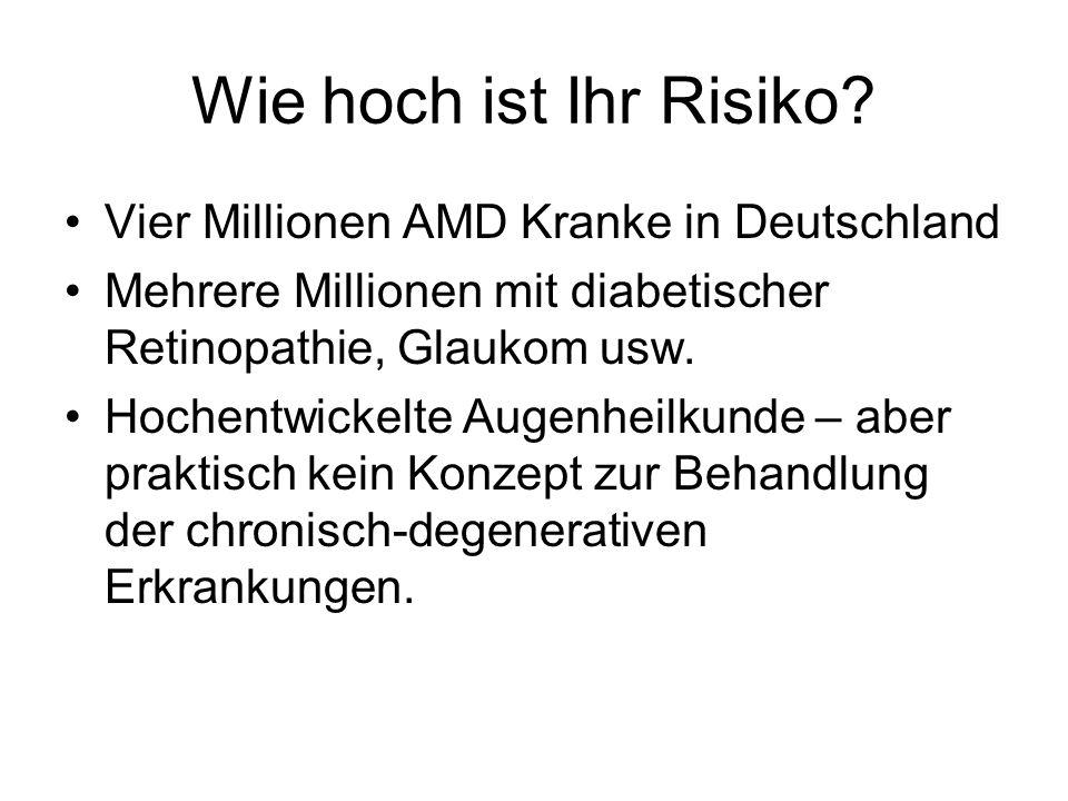 Wie hoch ist Ihr Risiko Vier Millionen AMD Kranke in Deutschland