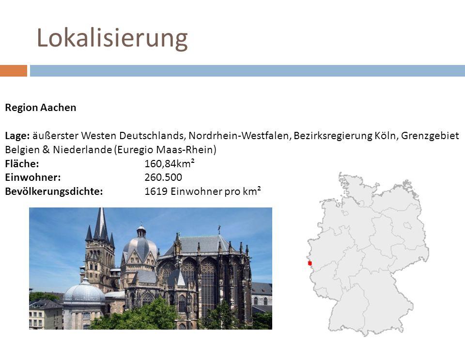 Lokalisierung Region Aachen