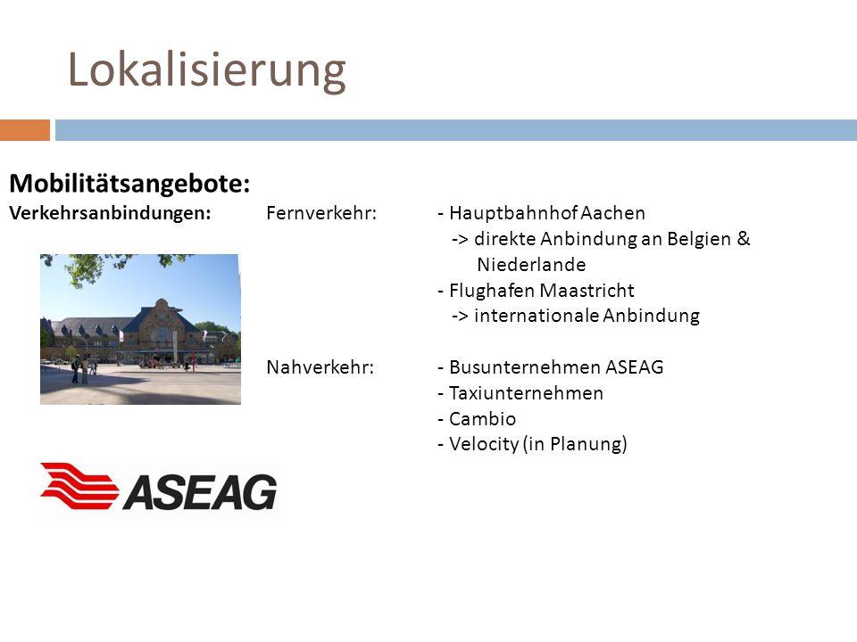 Lokalisierung Mobilitätsangebote: