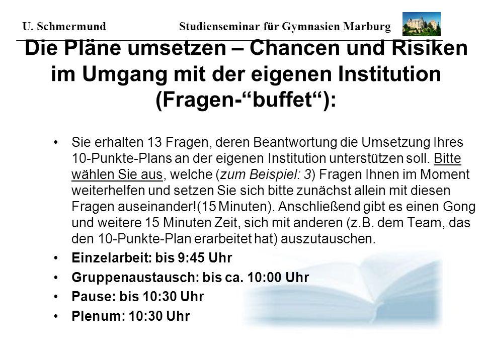 Studienseminar für Gymnasien - Marburg Informationen zur modularisierten Lehrerbildung August 2006