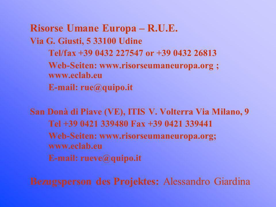 Risorse Umane Europa – R.U.E.