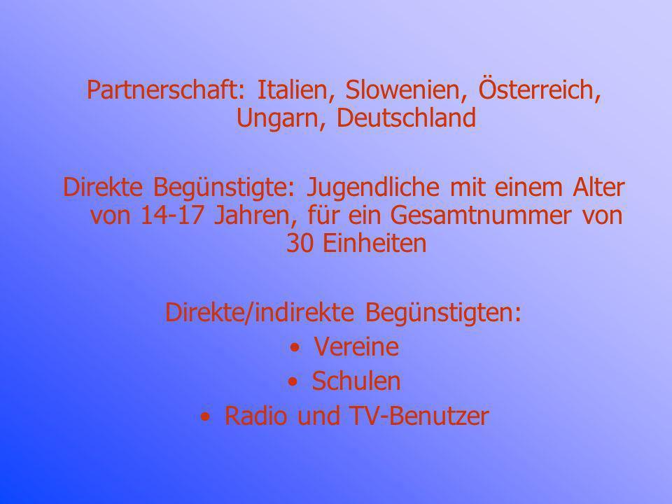 Partnerschaft: Italien, Slowenien, Österreich, Ungarn, Deutschland