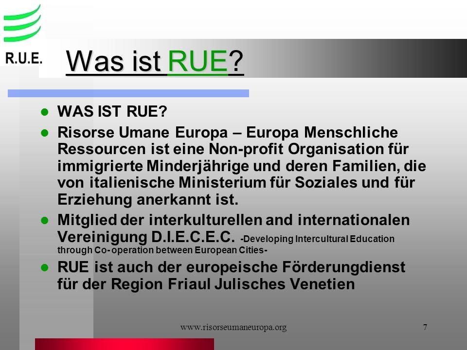 Was ist RUE WAS IST RUE
