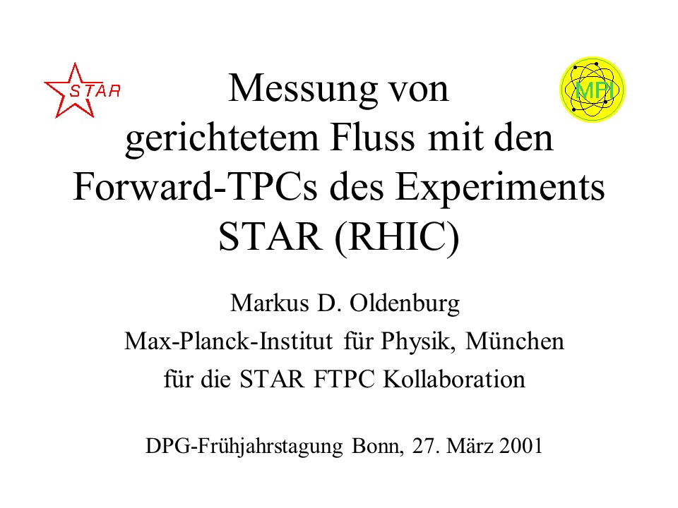 Messung von gerichtetem Fluss mit den Forward-TPCs des Experiments STAR (RHIC)