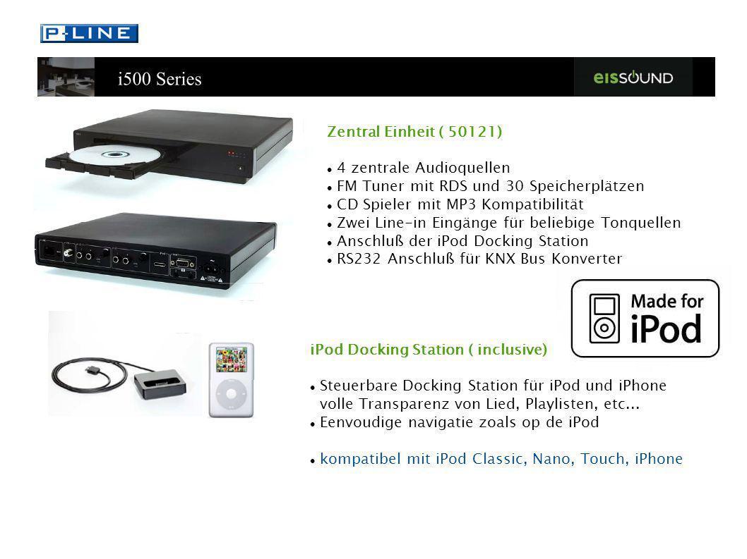 Zentral Einheit ( 50121)4 zentrale Audioquellen. FM Tuner mit RDS und 30 Speicherplätzen. CD Spieler mit MP3 Kompatibilität.