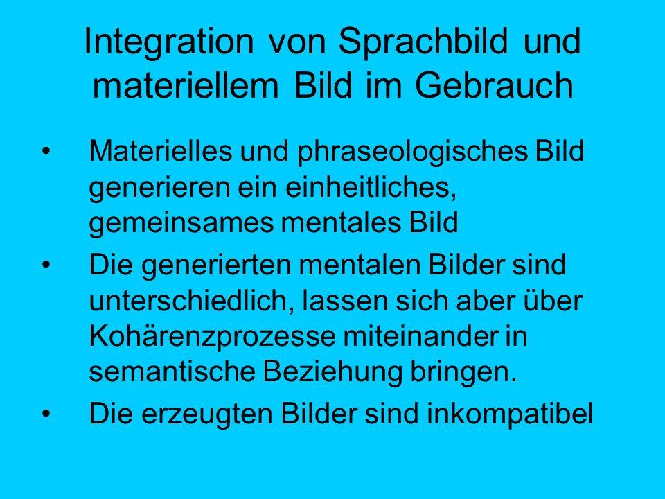Integration von Sprachbild und materiellem Bild im Gebrauch