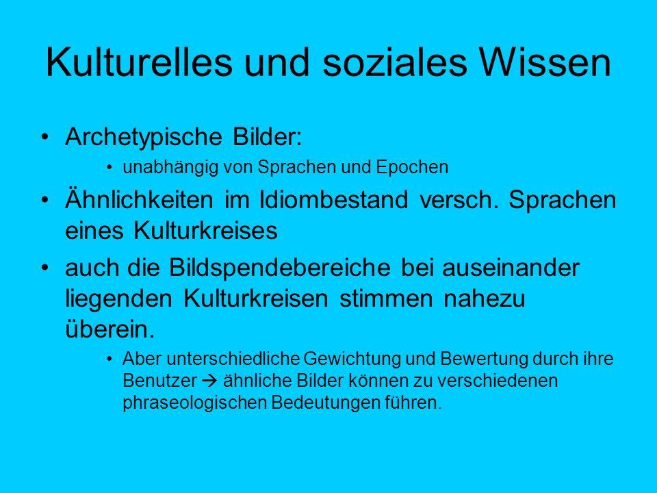 Kulturelles und soziales Wissen
