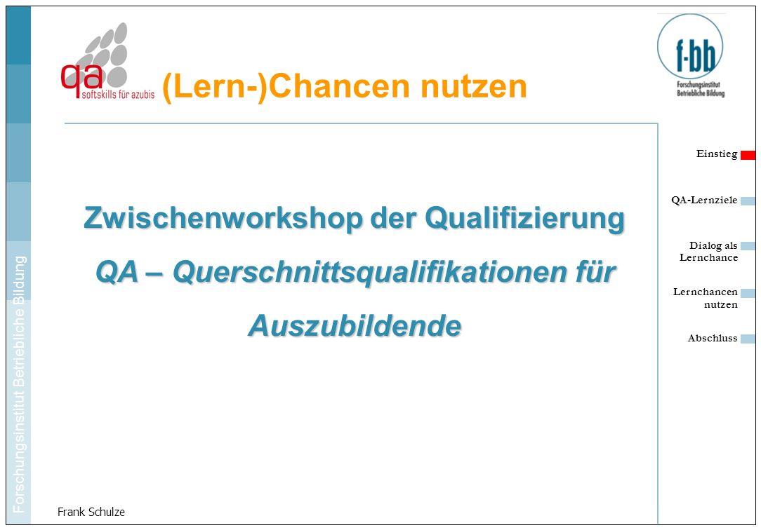 Zwischenworkshop der Qualifizierung