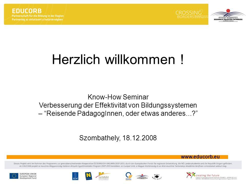 Herzlich willkommen ! Know-How Seminar