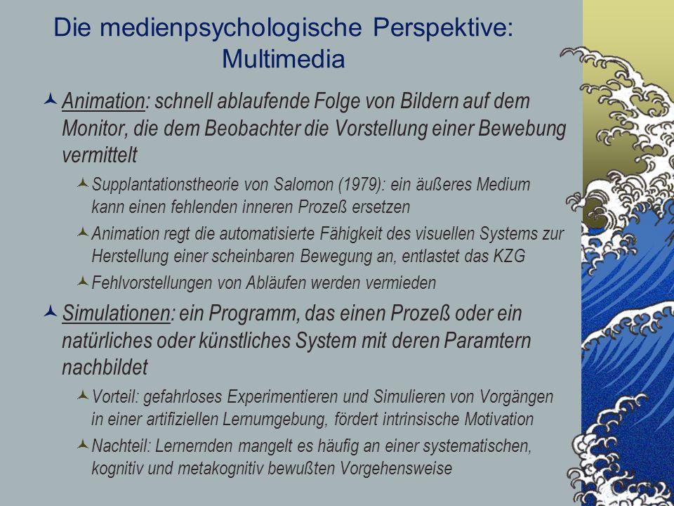 Die medienpsychologische Perspektive: Multimedia