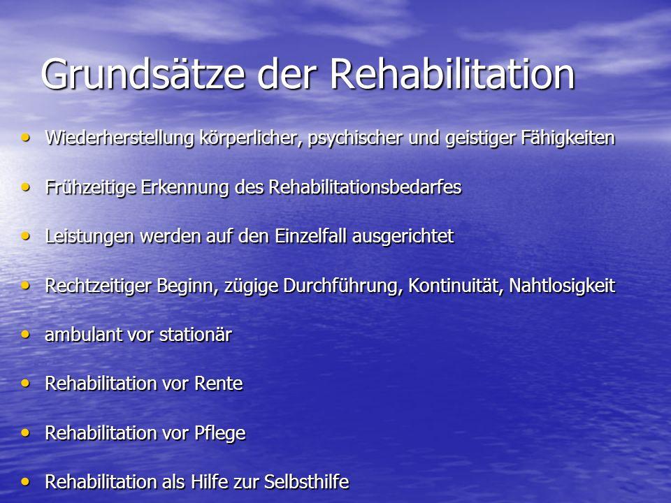 Grundsätze der Rehabilitation