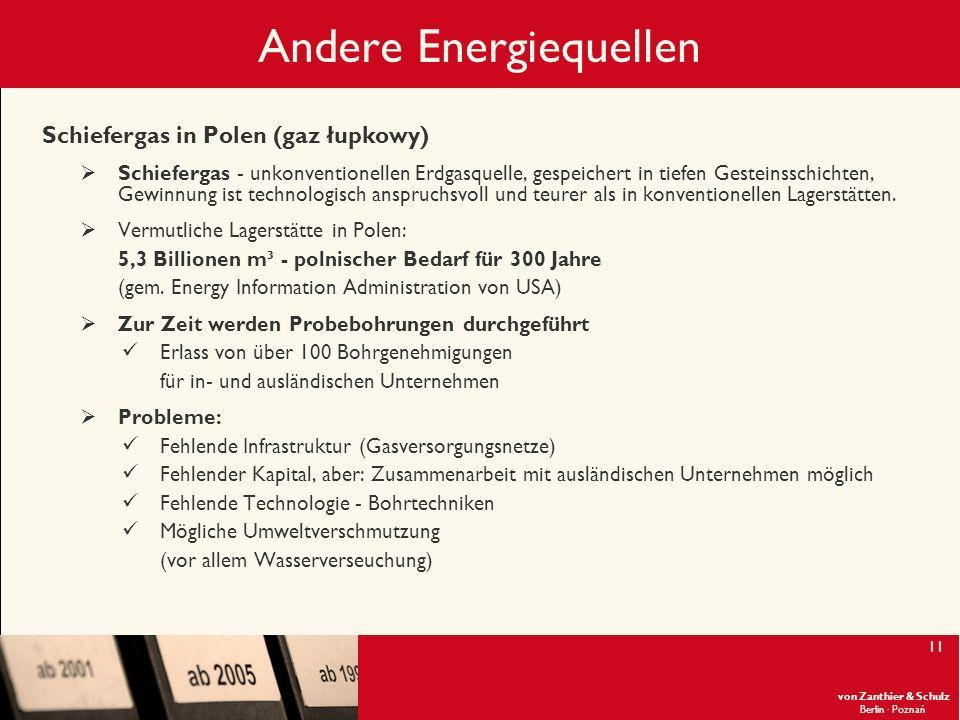 Andere Energiequellen