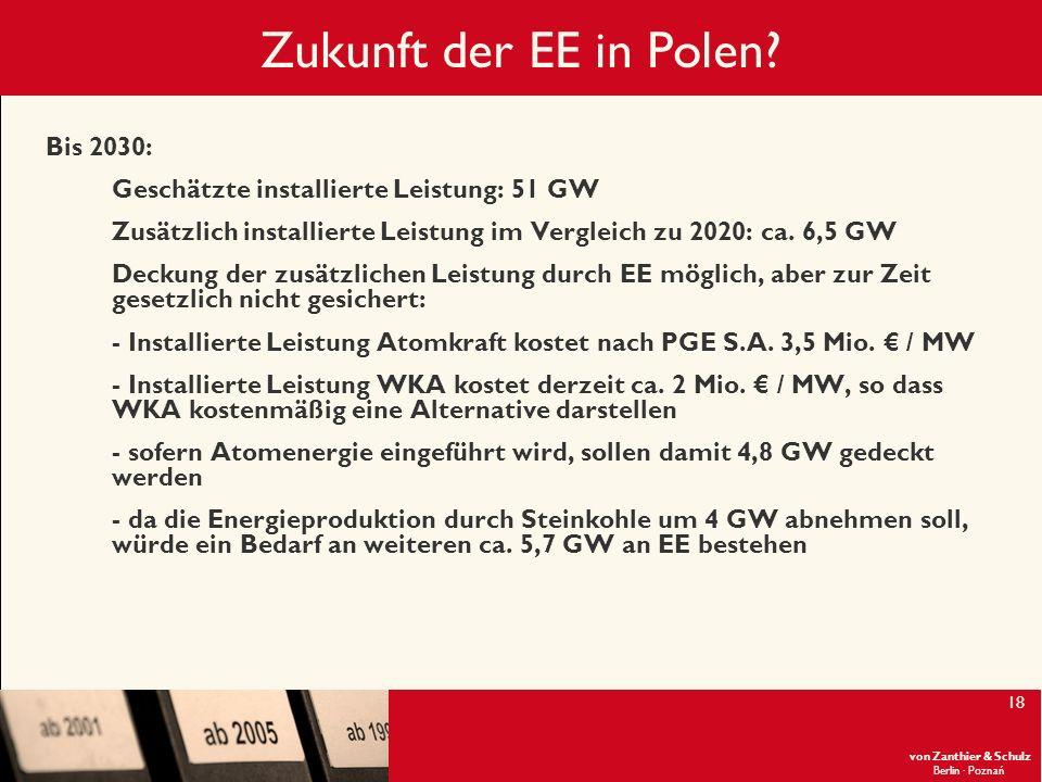 Zukunft der EE in Polen Bis 2030: