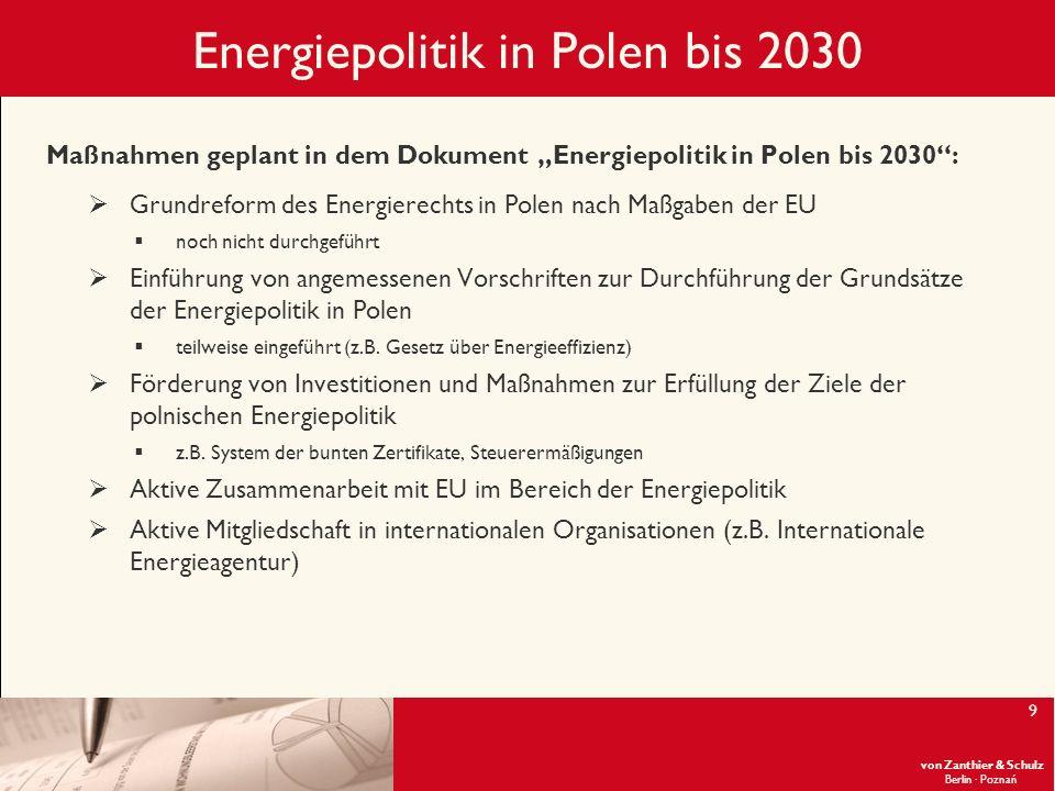 Energiepolitik in Polen bis 2030