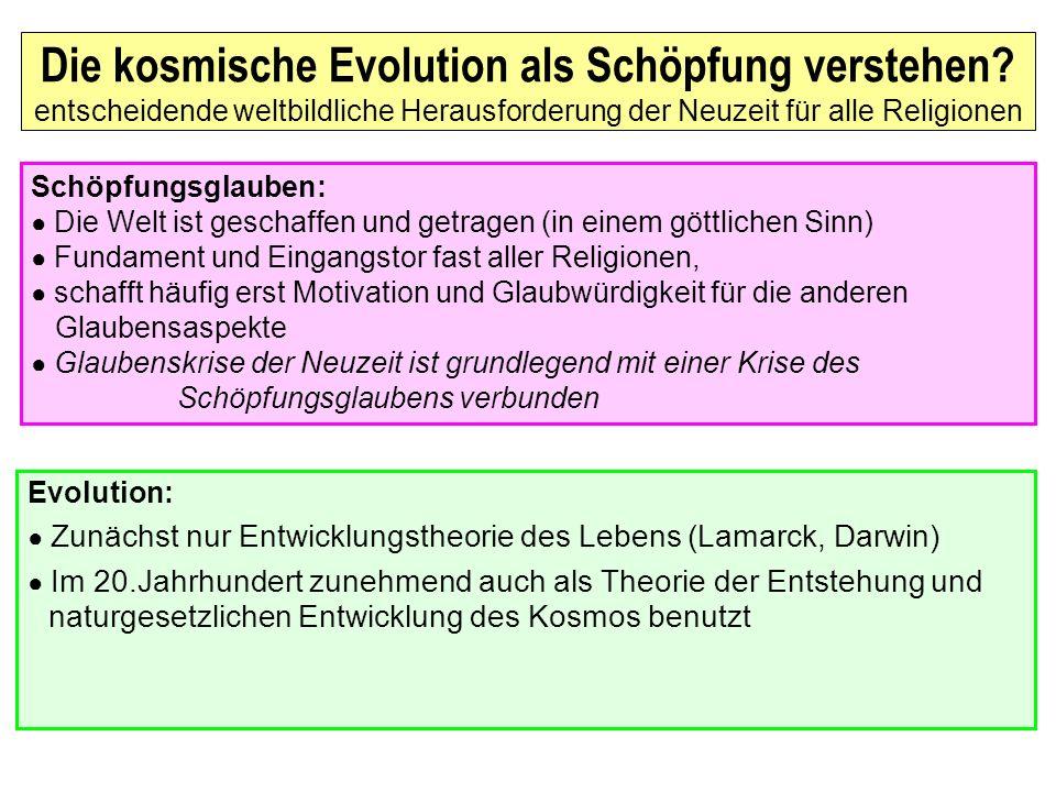 Die kosmische Evolution als Schöpfung verstehen