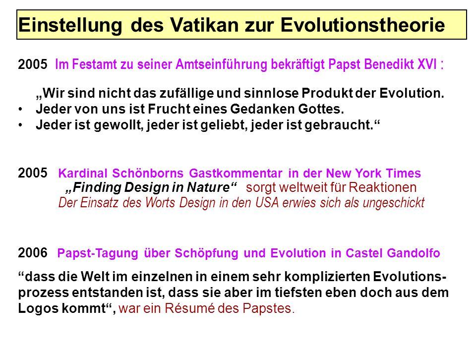 Einstellung des Vatikan zur Evolutionstheorie