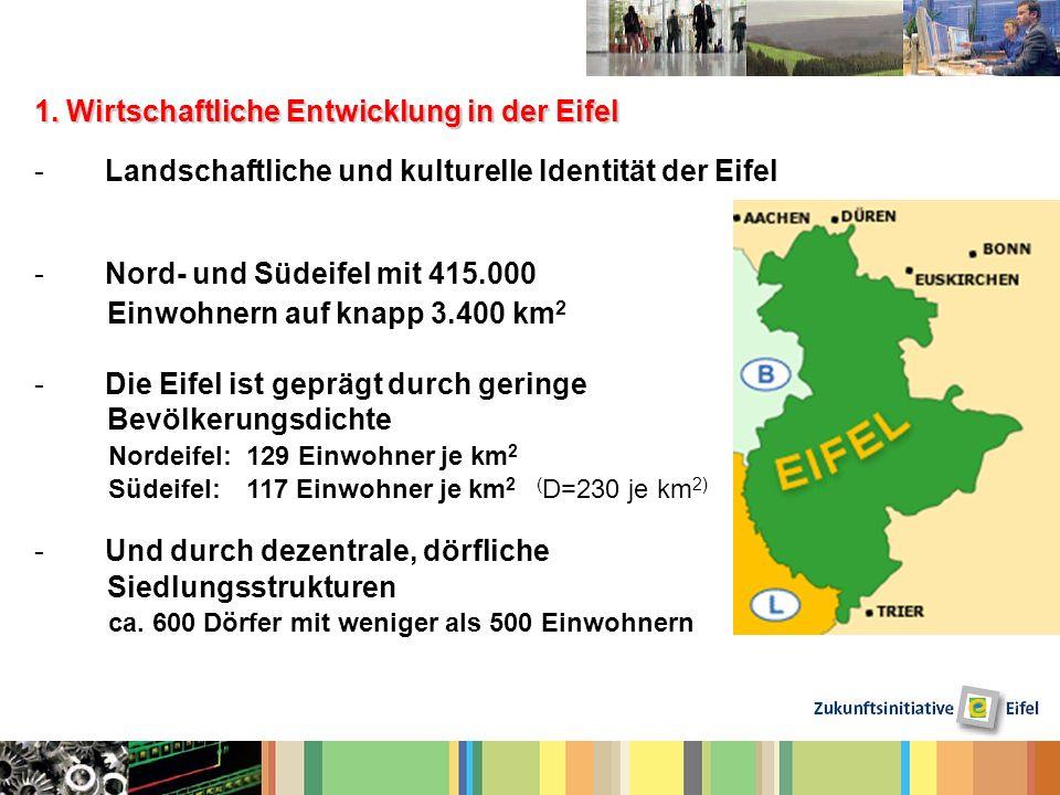 1. Wirtschaftliche Entwicklung in der Eifel