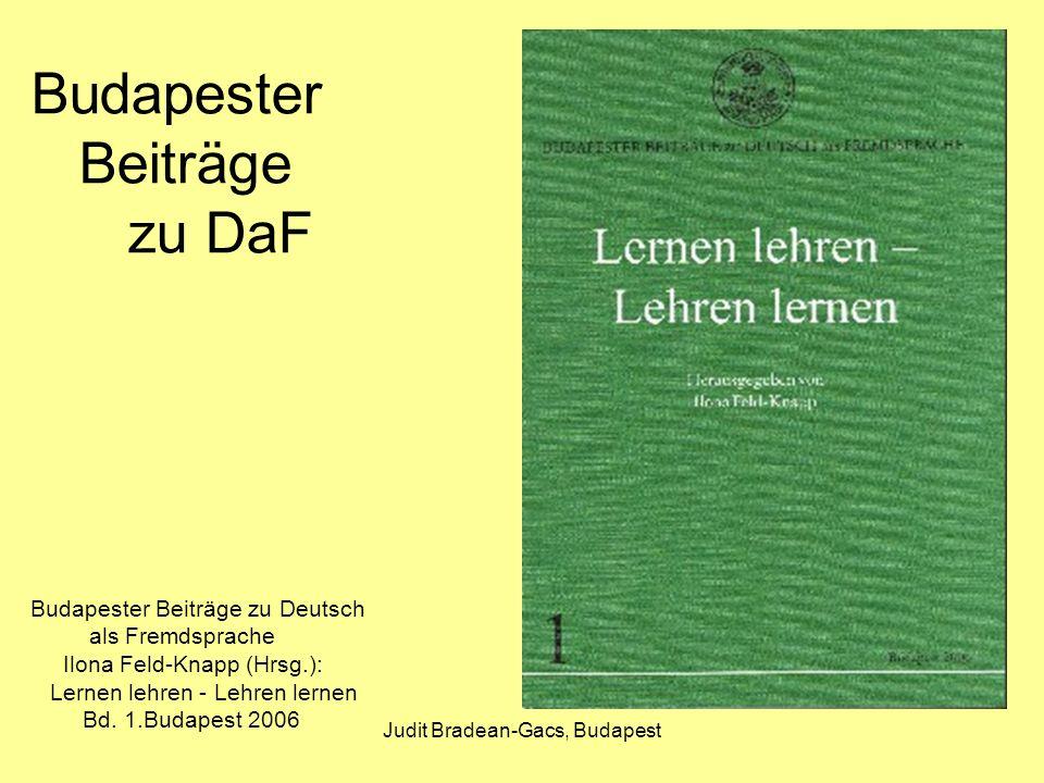 Budapester Beiträge zu DaF