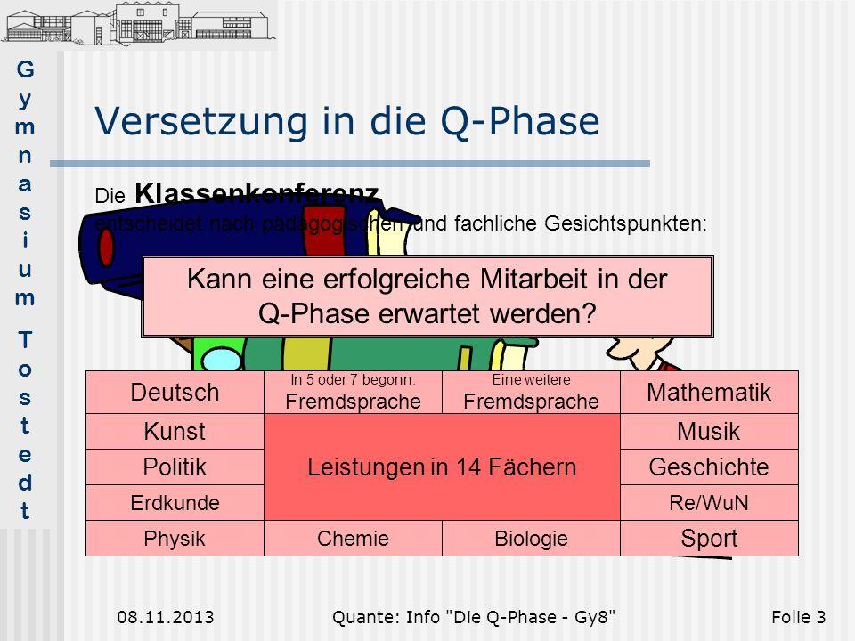 Versetzung in die Q-Phase