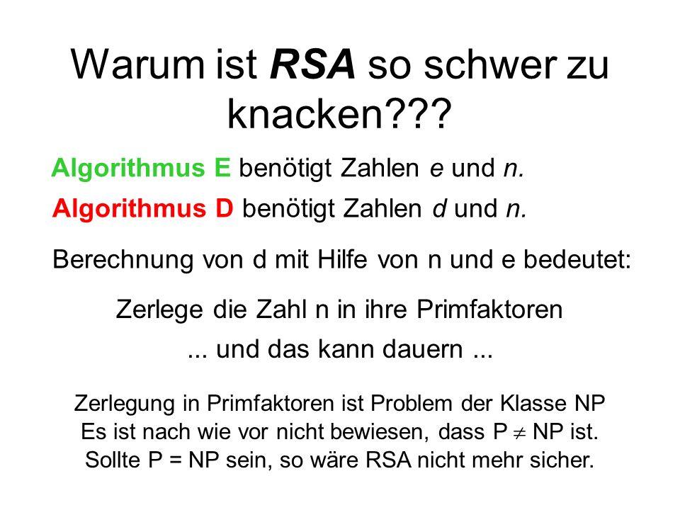 Warum ist RSA so schwer zu knacken