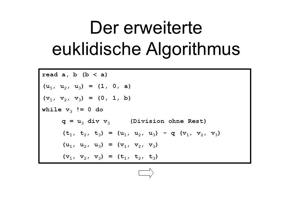 Der erweiterte euklidische Algorithmus