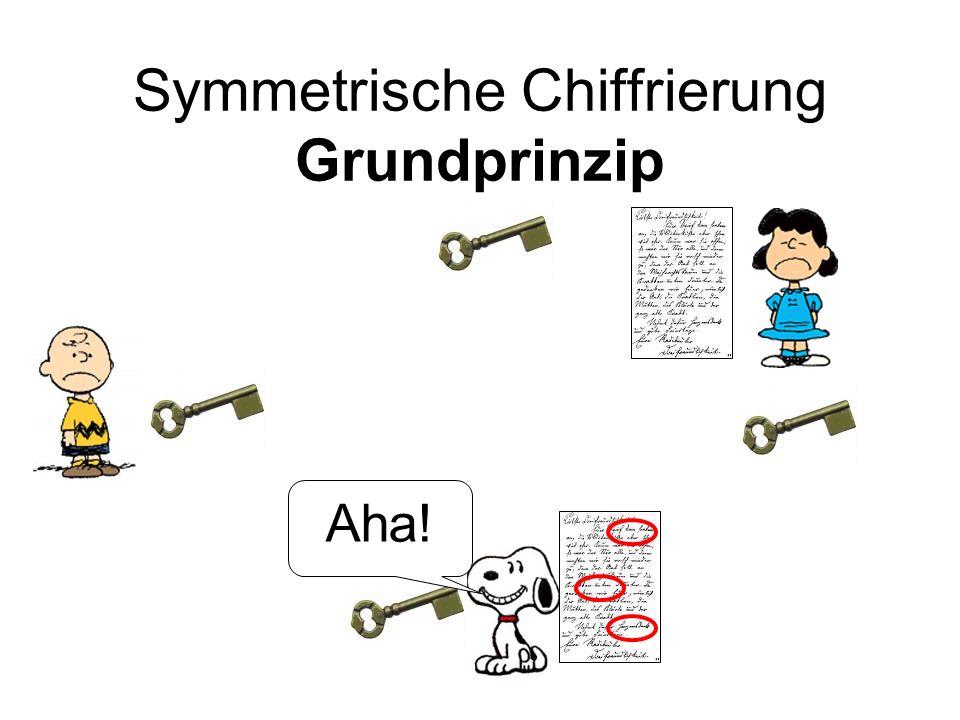 Symmetrische Chiffrierung Grundprinzip
