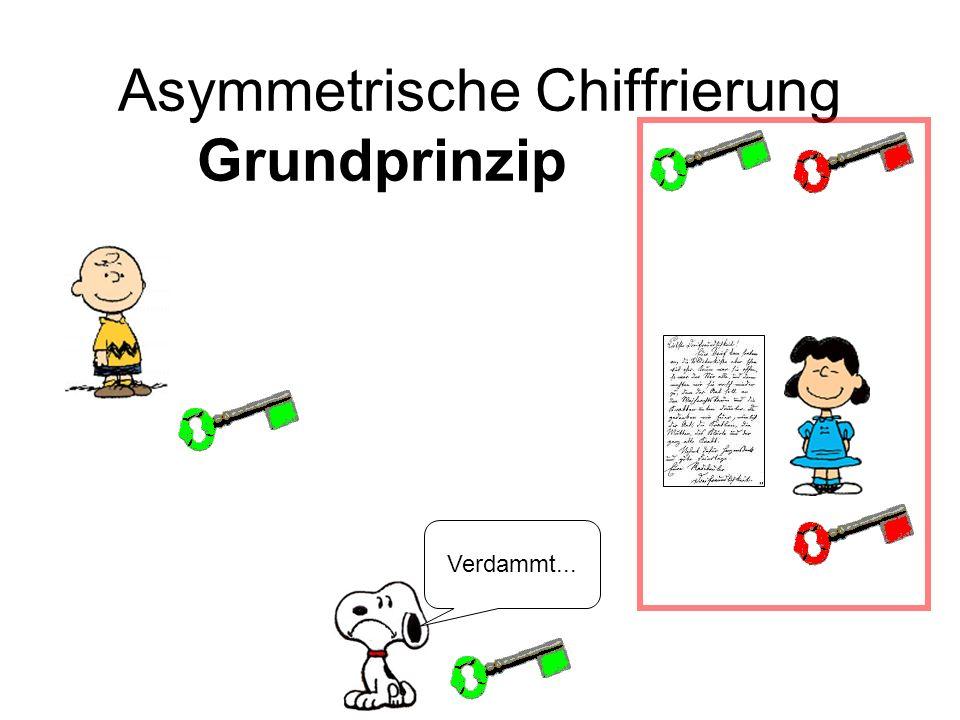 Asymmetrische Chiffrierung Grundprinzippqqqqq