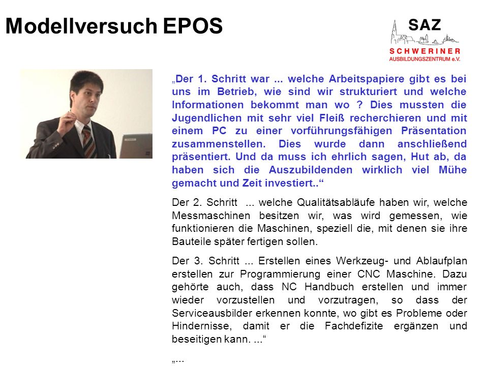 Modellversuch EPOS