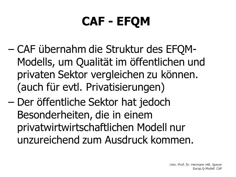 CAF - EFQM