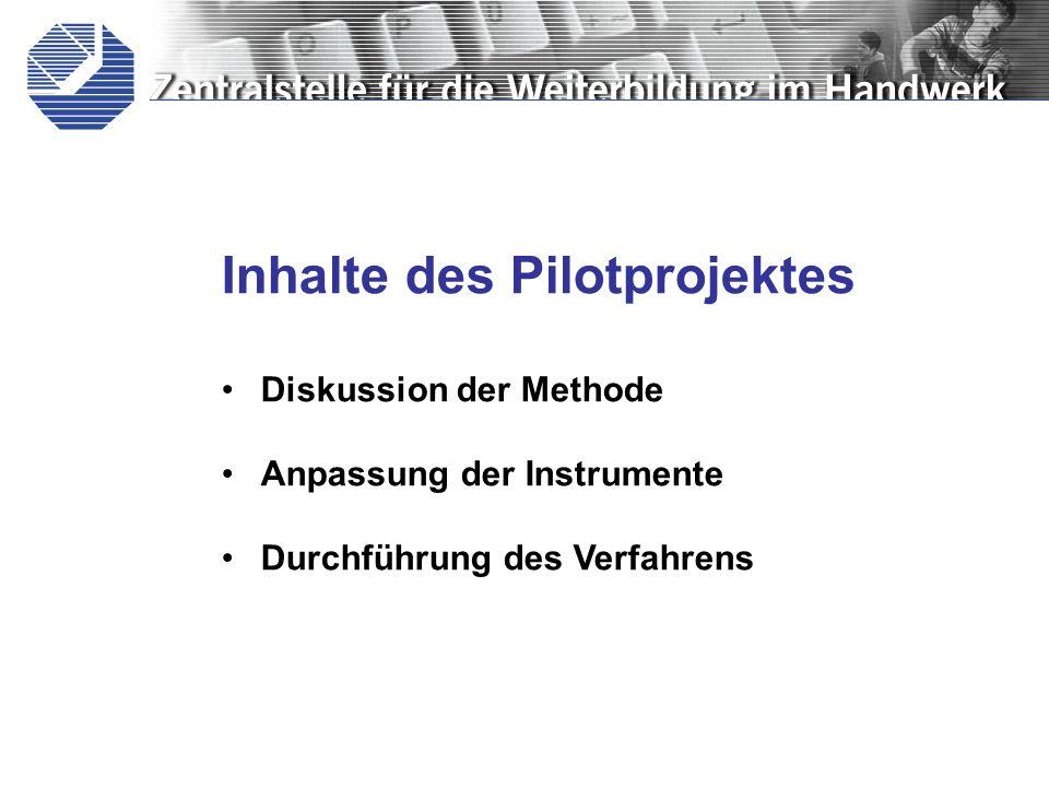 Inhalte des Pilotprojektes
