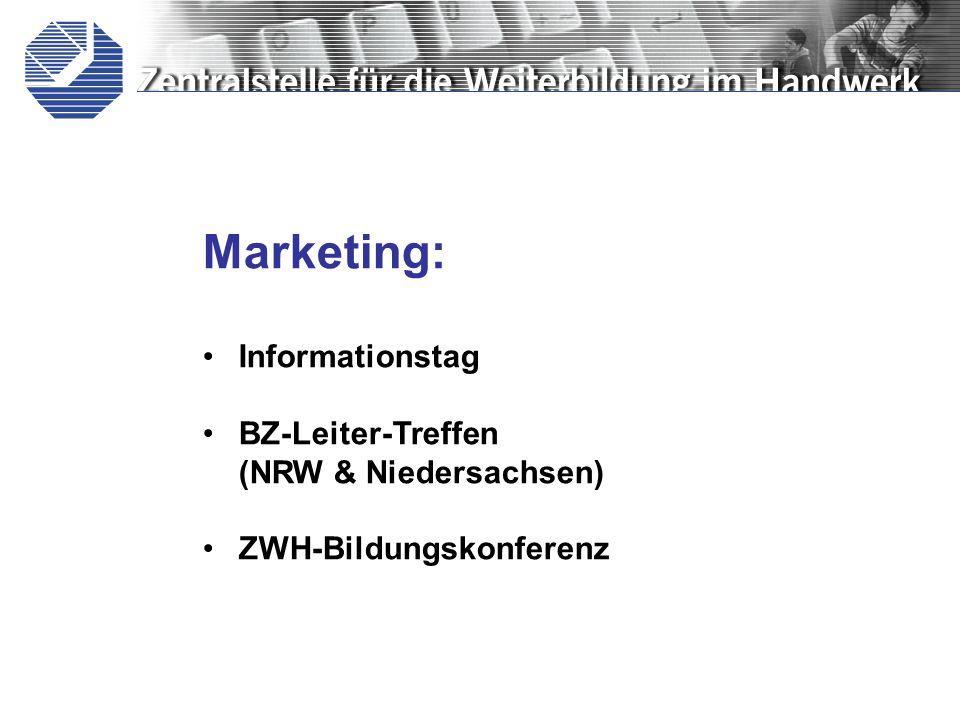 Marketing: Informationstag BZ-Leiter-Treffen (NRW & Niedersachsen)