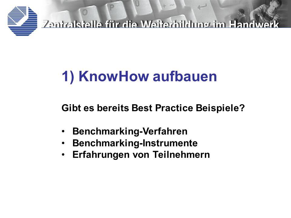 1) KnowHow aufbauen Gibt es bereits Best Practice Beispiele