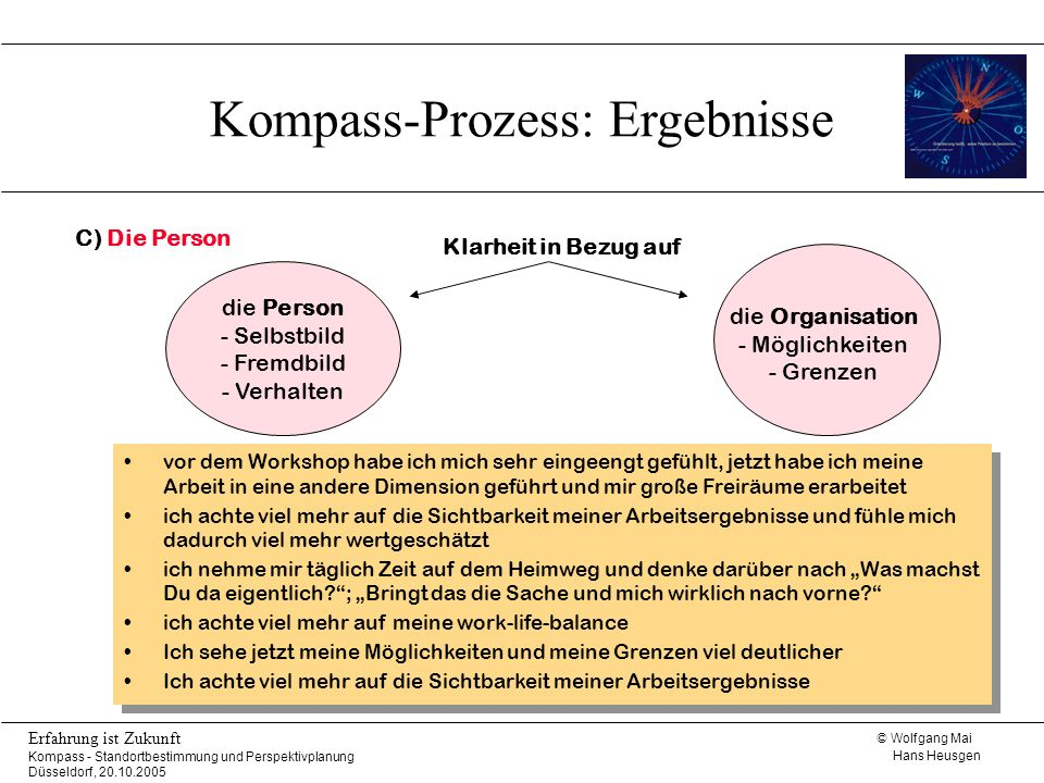Kompass-Prozess: Ergebnisse
