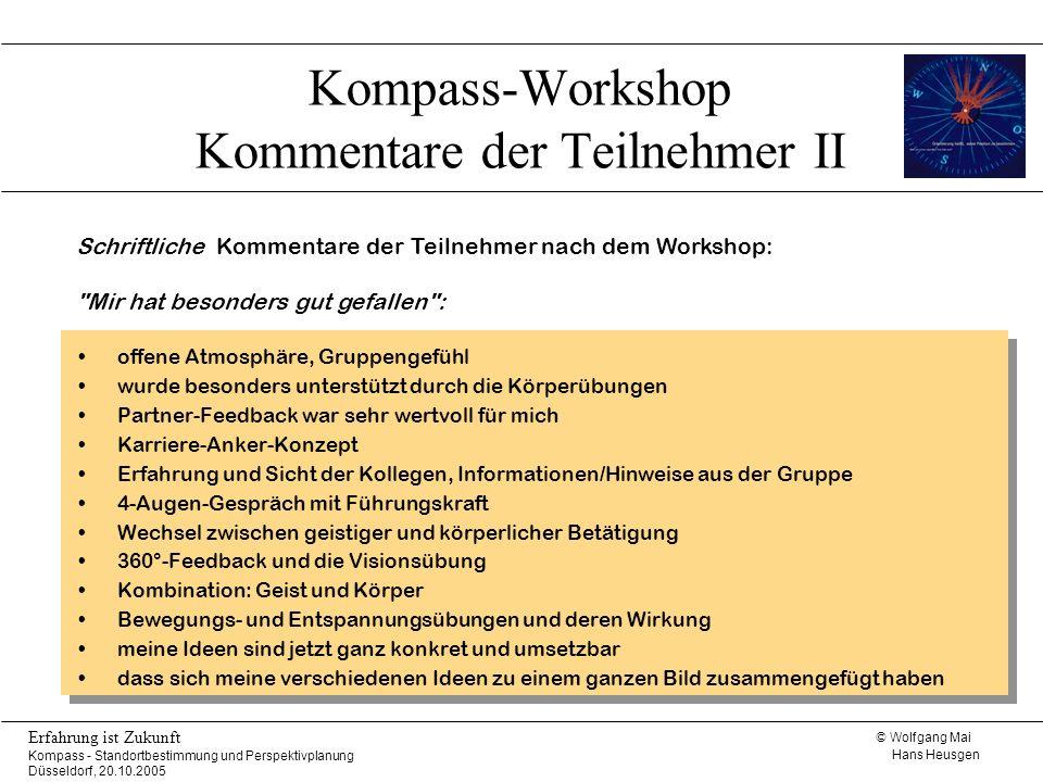 Kompass-Workshop Kommentare der Teilnehmer II