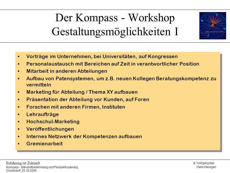 Der Kompass - Workshop Gestaltungsmöglichkeiten I
