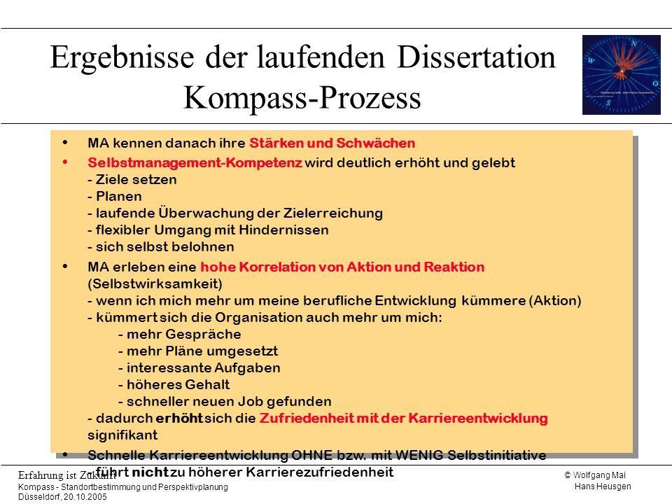 Ergebnisse der laufenden Dissertation Kompass-Prozess