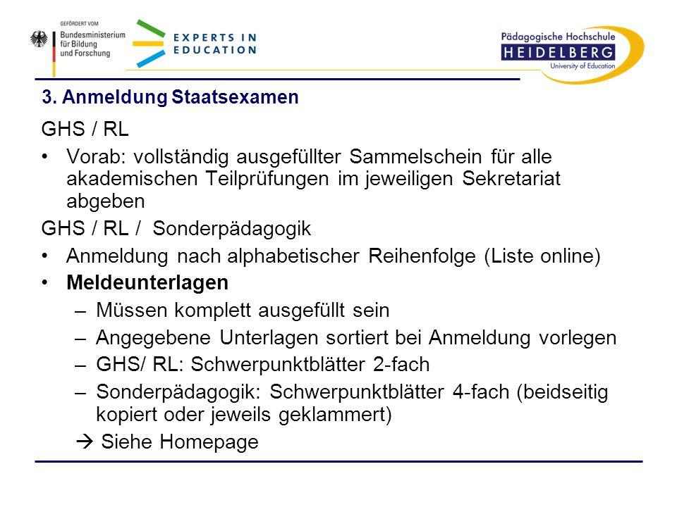 3. Anmeldung Staatsexamen
