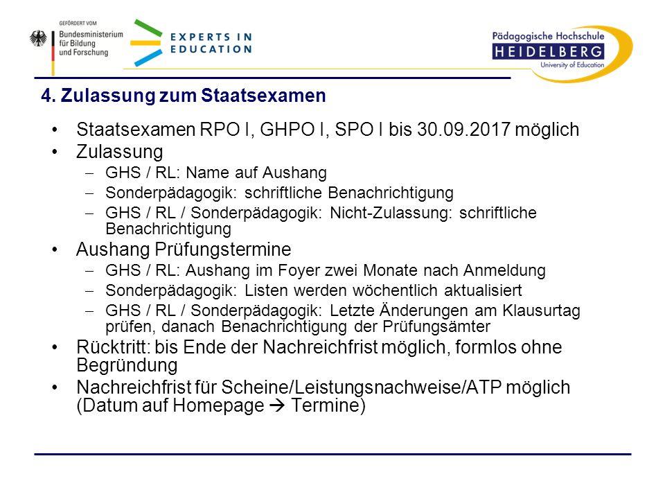 4. Zulassung zum Staatsexamen
