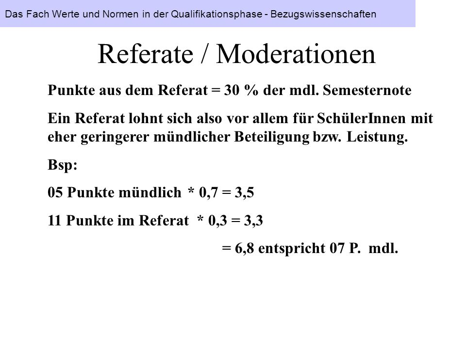 Referate / Moderationen