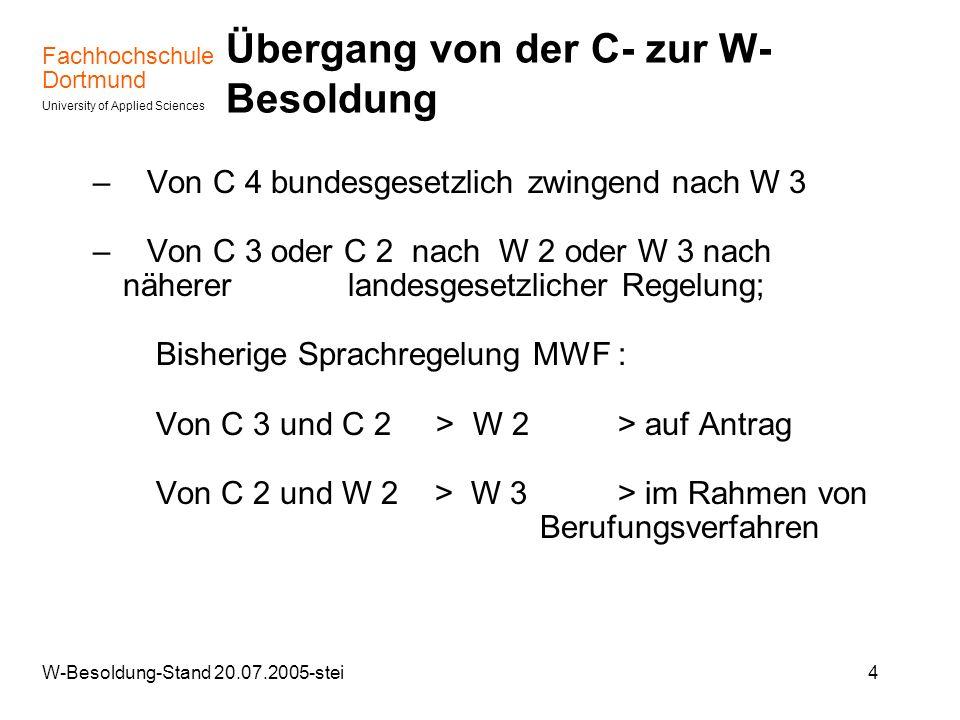 Übergang von der C- zur W-Besoldung