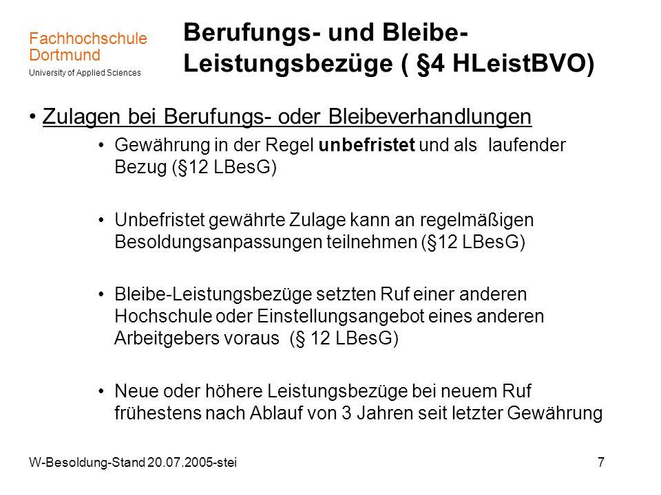 Berufungs- und Bleibe- Leistungsbezüge ( §4 HLeistBVO)