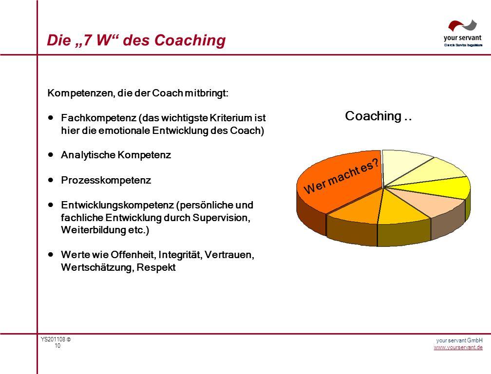 """Die """"7 W des Coaching Coaching .. Wer macht es"""