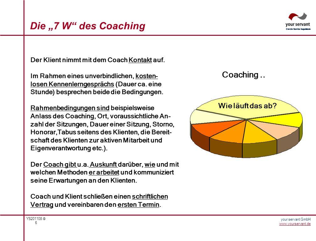 """Die """"7 W des Coaching Coaching .. Wie läuft das ab"""