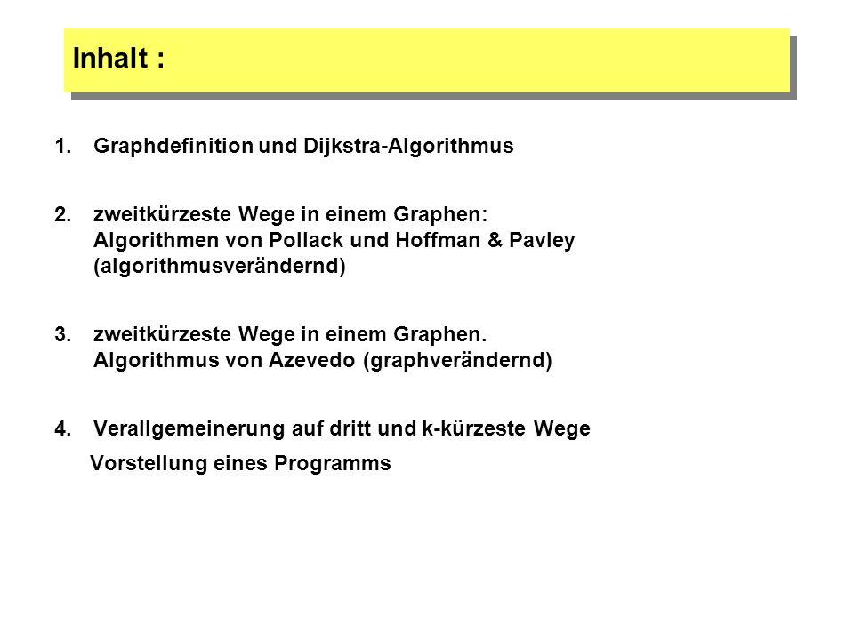 Inhalt : Graphdefinition und Dijkstra-Algorithmus