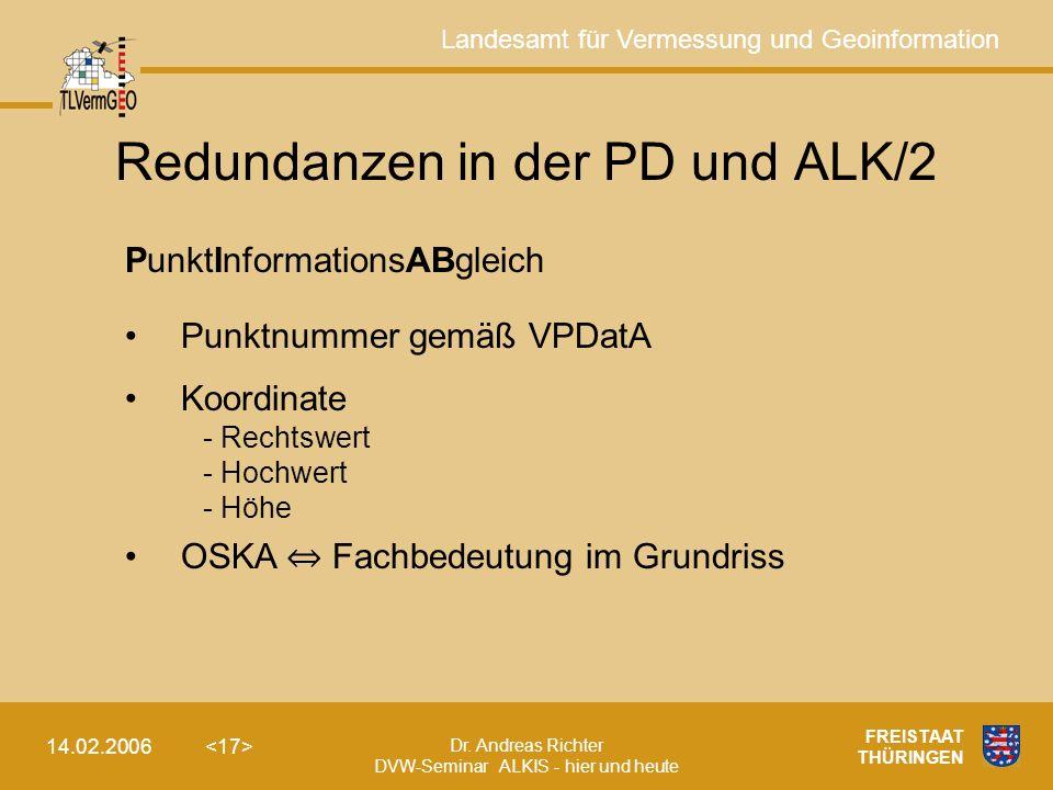 Redundanzen in der PD und ALK/2