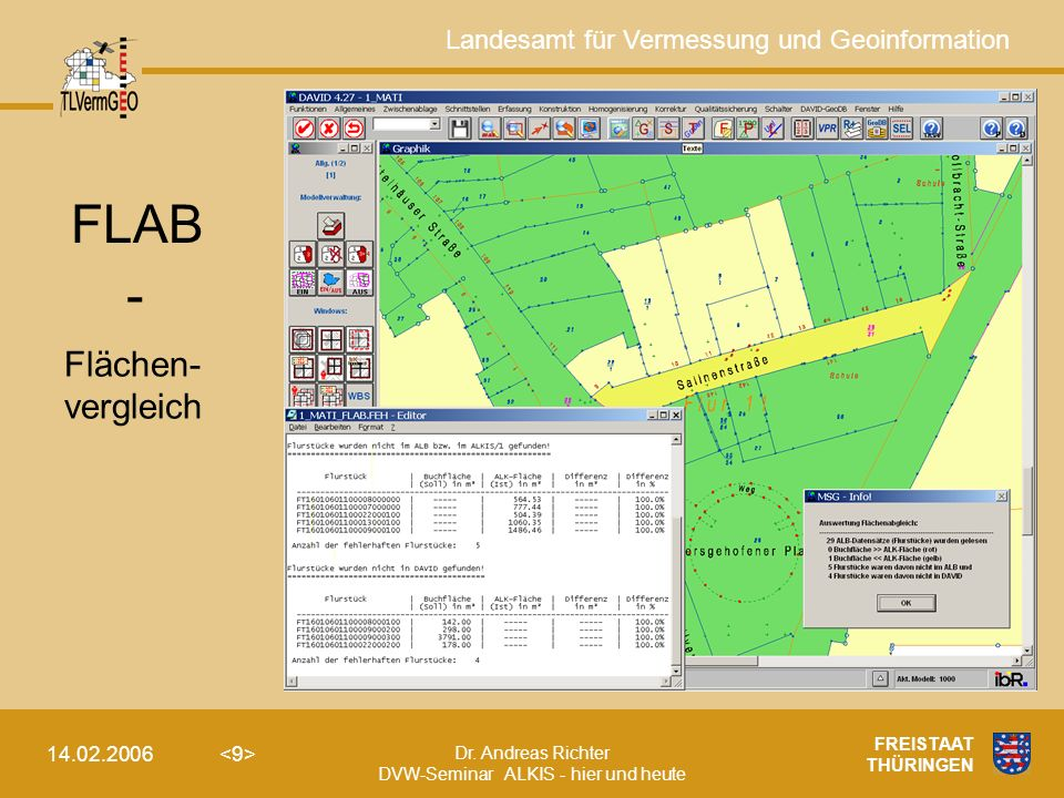 FLAB - Flächen- vergleich FREISTAAT THÜRINGEN 14.02.2006