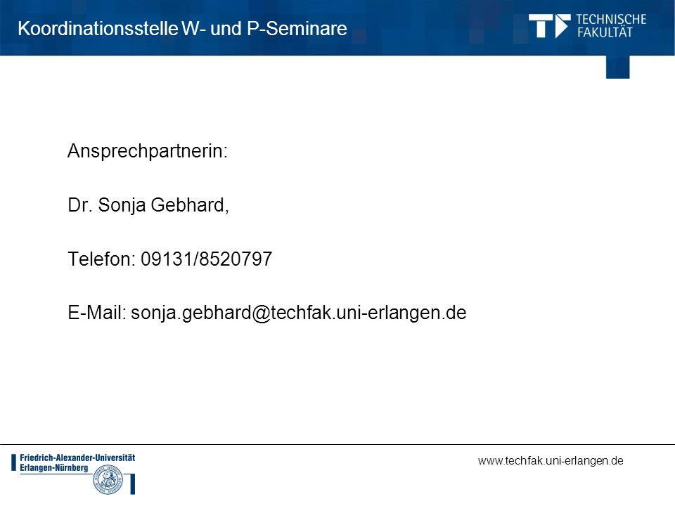 Koordinationsstelle W- und P-Seminare